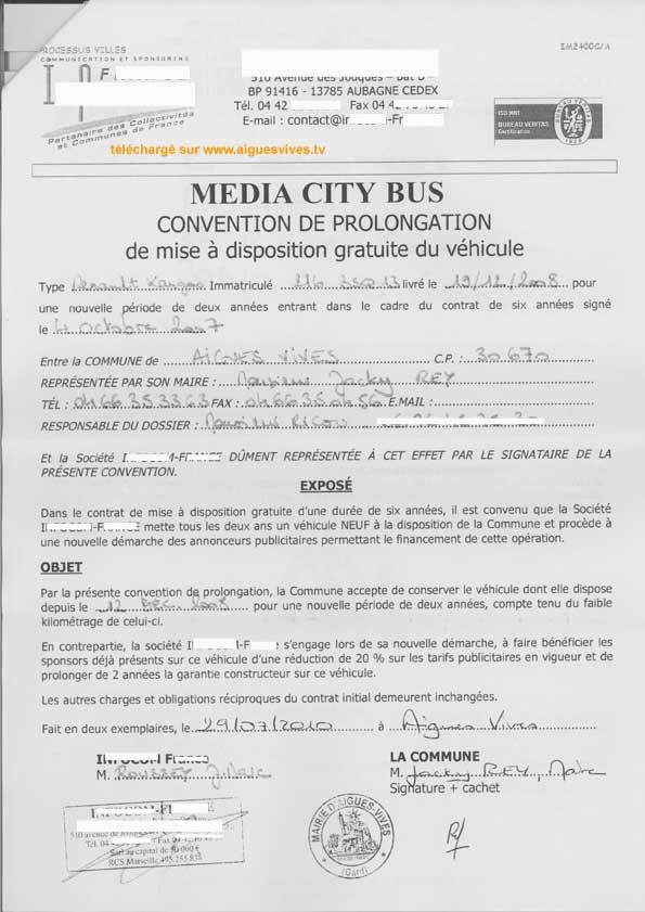 Publicit sur le v hicule de la mairie d 39 aigues vives quel int r t - Moncontrat cetelem fr espace contrat ...