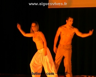 Salomé et Anthony au Gala de hip hop d'Aigues-Vives 2008